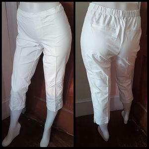 ISAAC MIZRAHI LIVE 24/7 Stretch Pull-On Crop pant